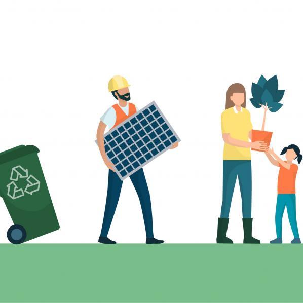 illustration de citoyen éco-responsable