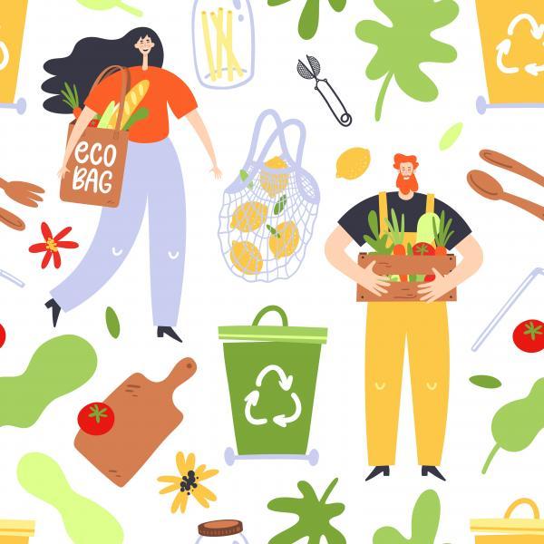 Illustration manger local, gaspiller moins dans l'Aude